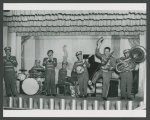 Turk Murphy Band wearing circus outfits, ca. 1960