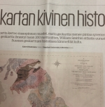 A portion of the article accompany the William Smith Map in Turun Sanomat newspaper