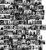 Image cluster from Teenie Harris Photograph Archive showing people in fur coats.