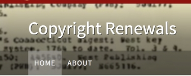 Copyright Renewals screenshot