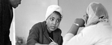Dorothy Cotton and students in a Citizenship Education Program class in Alabama in 1966. Ms. Cotton was a confidante and aide to the Rev. Dr. Martin Luther King Jr.CreditBob Fitch Photography Archive, Department of Special Collections, Stanford University Libraries