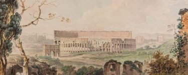 An 18th-century painting of the Colosseum by Francis Towne is part of the collection. (Image credit: Courtesy Istituto Nazionale di Archeologia e Storia dell'Arte)