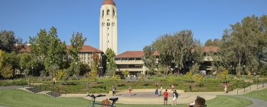 Meyer Green in front of Cecil H. Green Library (c) Linda Cicero, Stanford News Service