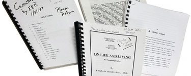 Elizabeth Kübler-Ross' manuscript drafts (Courtesy The Elisabeth Kübler-Ross Archive, Department of Special Collections, Stanford Libraries)