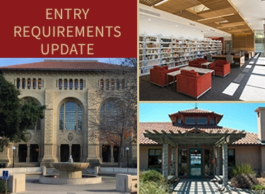 Stanford Libraries entry requirement image