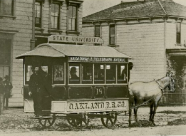 "The Oakland R.R. Co. ""Bobtail Car."" The William Gardiner transportation collection, 1869-1951"
