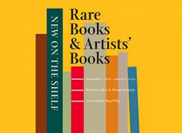 New on the Shelf: Rare Books & Artists' Books poster image