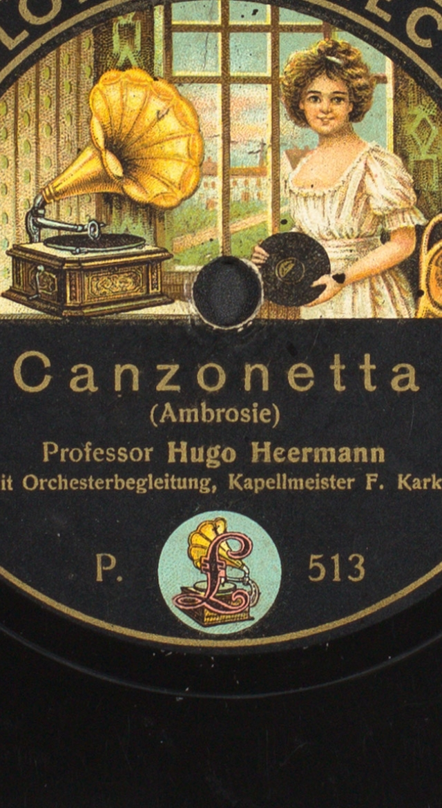 Image of a 78rpm record label