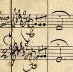 The opening phrase of the fifth symphony, in Beethoven's hand
