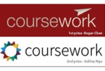 Winning logos of the CourseWork Visual Design Contest.