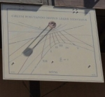 Sundial by Prof. Ronald N. Bracewell on the old Terman Engineering Center.