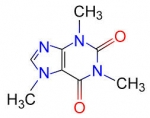 Chemical structure of Caffeine in 2D
