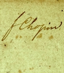 Chopin's signature, from MLM 217 (detail)