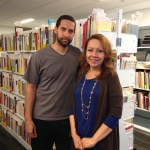 Caleb Cochran and Lucy Castro are Library Specialists in Binding and Finishing.