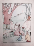 """Image of a drawing by Marjorie """"Marge"""" Henderson Buell."""