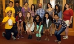 Stanford Safari students pose with Daniel Hartwig, University Archivist
