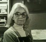 Portrait of Ann Rosener in her press by Leo Holub, 1978; M1946, Flat-box 31, folder 1