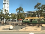 San Francisco Ferry Building and streetcar: one of thousands of images used by the Image, Video, and Multimedia Systems research team to test image search algorithms