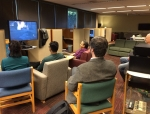 Student, instructor and library staff battle zombies on xBox