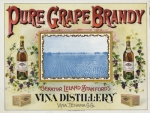 Pure grape brandy ad