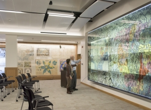 The Presentation Screen at the David Rumsey Map Center