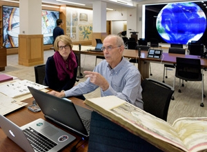The David Rumsey Map Center, which contains more than 150,000 rare maps, atlases, globes and pocket maps, will celebrate its grand opening Tuesday, April 19, 2016. Photo credit: L. A. Cicero / Stanford News Service
