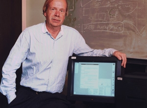 SLAC physicist Paul Kunz in 1998 with the first U.S. W