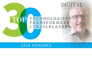 Center for Digital Education's Top 30 Award recipient, Philip Schreur