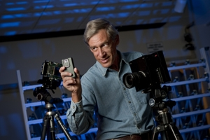 "Mark Levoy and his open source, programmable camera, dubbed ""Frankencamera"""