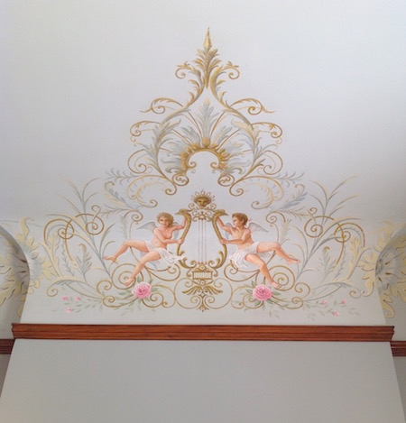 Restored ceiling decoration