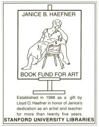 Janice B. Haefner Book Fund - SUL