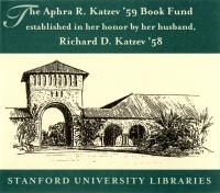 Aphra R. Katzev Endowed Book Fund - SUL