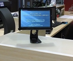 Android tablet at Engineering Library