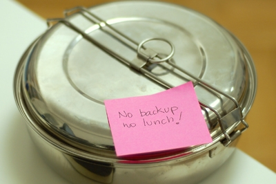 No backup, no lunch!, image by Flickr user Cesar Astudillo