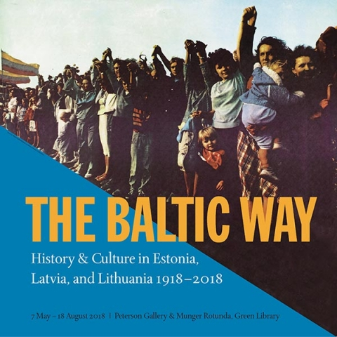 "display poster for exhibit ""The Baltic Way"""