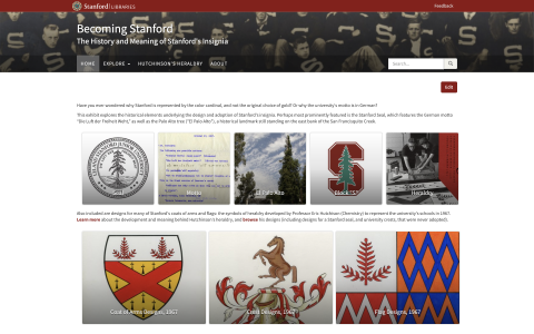 Becoming Stanford: The History and Meaning of Stanford's Insignia, screenshot captured 07 January, 2018.