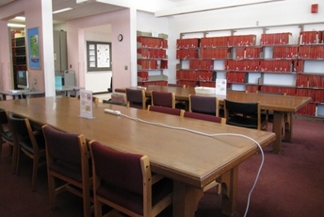 Swain Library back reading room