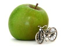 BeWell apple and bike