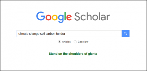 Google Scholar subject search