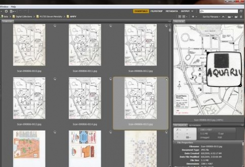 Adobe Bridge screenshot of Steven Meretzky Papers (M1730)