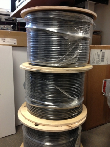 There are 1.65 miles of audio, video and data cable to be installed at the new labs.