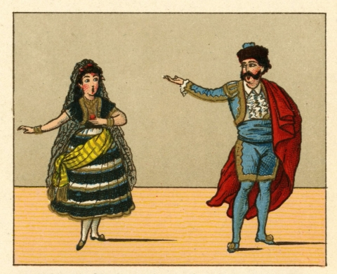 Carmen and Escamilla, depicted in Opern-Typen
