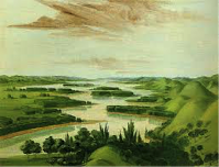 View from above Floyd's Grave, near modern Sioux City, Iowa, George Catlin, 1832