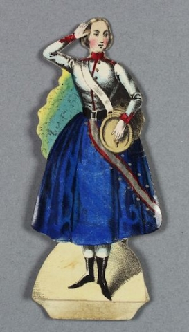 Jenny Lind doll, as Daughter of the Regiment