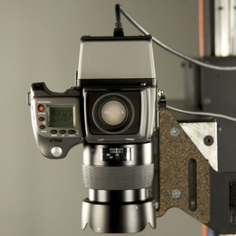 Camera used for rare book digitization.