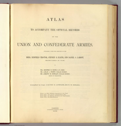Atlas to accompany the official records of the Union and Confederate armies