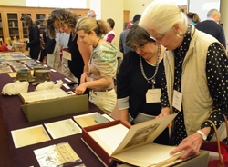 Exhibition of treasures from the Stanford University Archives, 2013.
