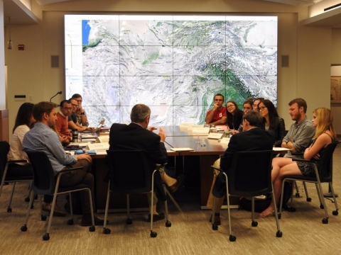 Multiple Actors and Divergent Strategies to the Rumsey Map Center's regional resources