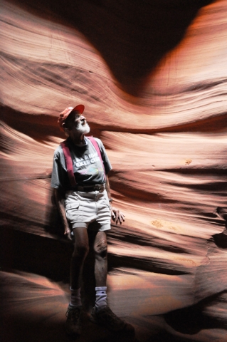 Jim Case in a slot canyon in Utah.