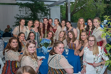 Estonian TV Girls' Choir at reception